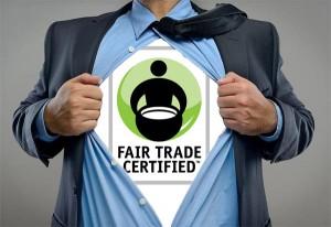 logotipo fair trade en playera